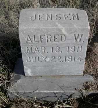 JENSEN, ALFRED W. - Sioux County, Nebraska   ALFRED W. JENSEN - Nebraska Gravestone Photos