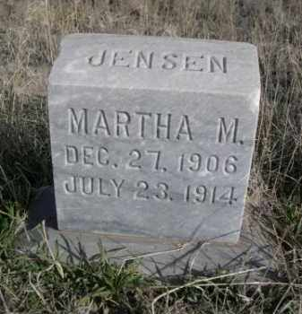 JENSEN, MARTHA M. - Sioux County, Nebraska | MARTHA M. JENSEN - Nebraska Gravestone Photos