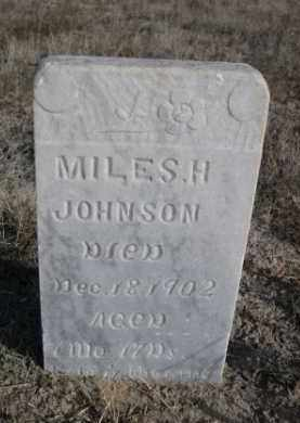 JOHNSON, MILES H. - Sioux County, Nebraska | MILES H. JOHNSON - Nebraska Gravestone Photos