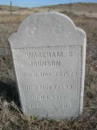JOHNSON, WAREHAM S. - Sioux County, Nebraska | WAREHAM S. JOHNSON - Nebraska Gravestone Photos