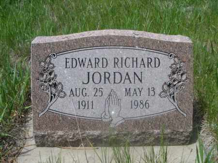 JORDAN, EDWARD RICHARD - Sioux County, Nebraska | EDWARD RICHARD JORDAN - Nebraska Gravestone Photos