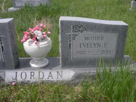 JORDAN, EVELYN F. - Sioux County, Nebraska | EVELYN F. JORDAN - Nebraska Gravestone Photos