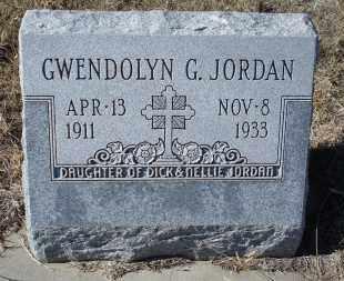 JORDAN, GWENDOLYN G. - Sioux County, Nebraska | GWENDOLYN G. JORDAN - Nebraska Gravestone Photos