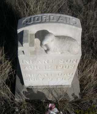 JORDAN, INFANT SON - Sioux County, Nebraska | INFANT SON JORDAN - Nebraska Gravestone Photos