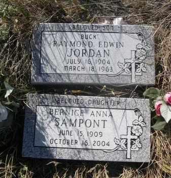 JORDAN, RAYMOND EDWIN - Sioux County, Nebraska | RAYMOND EDWIN JORDAN - Nebraska Gravestone Photos