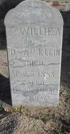 KLEIN, WILLIE A. - Sioux County, Nebraska   WILLIE A. KLEIN - Nebraska Gravestone Photos