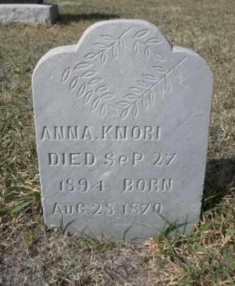 KNORI, ANNA - Sioux County, Nebraska | ANNA KNORI - Nebraska Gravestone Photos