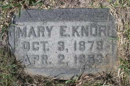 KNORI, MARY E. - Sioux County, Nebraska | MARY E. KNORI - Nebraska Gravestone Photos