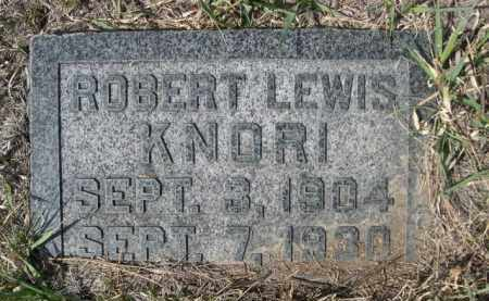 KNORI, ROBERT LEWIS - Sioux County, Nebraska | ROBERT LEWIS KNORI - Nebraska Gravestone Photos