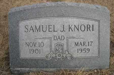 KNORI, SAMUEL J. - Sioux County, Nebraska | SAMUEL J. KNORI - Nebraska Gravestone Photos