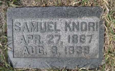 KNORI, SAMUEL - Sioux County, Nebraska   SAMUEL KNORI - Nebraska Gravestone Photos