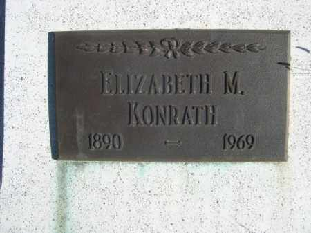 KONRATH, ELIZABETH M. - Sioux County, Nebraska | ELIZABETH M. KONRATH - Nebraska Gravestone Photos