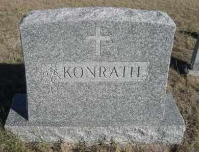 KONRATH, FAMILY - Sioux County, Nebraska | FAMILY KONRATH - Nebraska Gravestone Photos