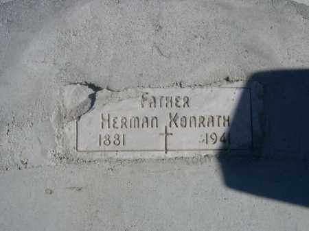 KONRATH, HERMAN - Sioux County, Nebraska | HERMAN KONRATH - Nebraska Gravestone Photos