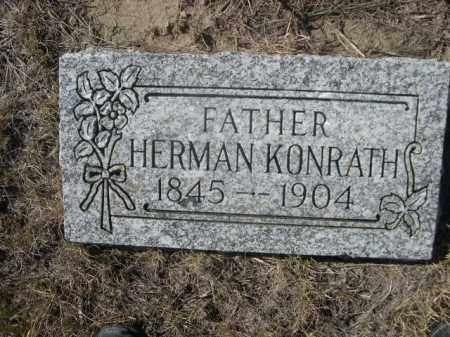 KONRATH, HERMAN - Sioux County, Nebraska   HERMAN KONRATH - Nebraska Gravestone Photos
