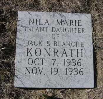 KONRATH, NILA MARIE - Sioux County, Nebraska   NILA MARIE KONRATH - Nebraska Gravestone Photos