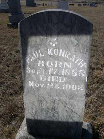KONRATH, PAUL - Sioux County, Nebraska | PAUL KONRATH - Nebraska Gravestone Photos