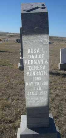 KONRATH, ROSA L. - Sioux County, Nebraska   ROSA L. KONRATH - Nebraska Gravestone Photos