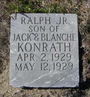 KONRATH, RALPH JR. - Sioux County, Nebraska | RALPH JR. KONRATH - Nebraska Gravestone Photos