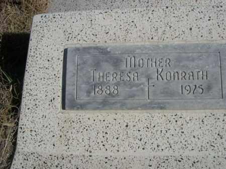 KONRATH, THERESA - Sioux County, Nebraska | THERESA KONRATH - Nebraska Gravestone Photos