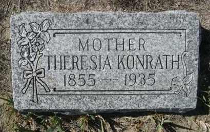 KONRATH, THERESIA - Sioux County, Nebraska   THERESIA KONRATH - Nebraska Gravestone Photos