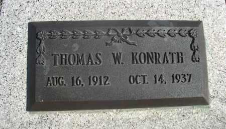 KONRATH, THOMAS W. - Sioux County, Nebraska | THOMAS W. KONRATH - Nebraska Gravestone Photos