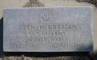 KREMAN, GLEN H. - Sioux County, Nebraska   GLEN H. KREMAN - Nebraska Gravestone Photos