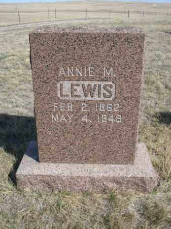 LEWIS, ANNIE M. - Sioux County, Nebraska   ANNIE M. LEWIS - Nebraska Gravestone Photos