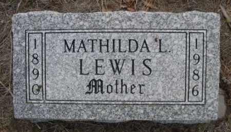 LEWIS, MATHILDA L. - Sioux County, Nebraska | MATHILDA L. LEWIS - Nebraska Gravestone Photos