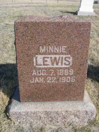 LEWIS, MINNIE - Sioux County, Nebraska | MINNIE LEWIS - Nebraska Gravestone Photos
