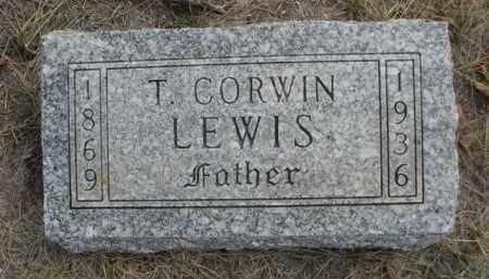 LEWIS, T. CORWIN - Sioux County, Nebraska | T. CORWIN LEWIS - Nebraska Gravestone Photos