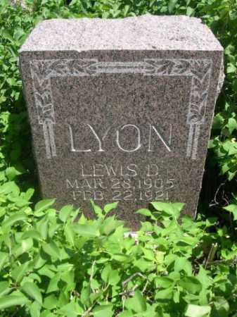 LYON, LEWIS D. - Sioux County, Nebraska | LEWIS D. LYON - Nebraska Gravestone Photos