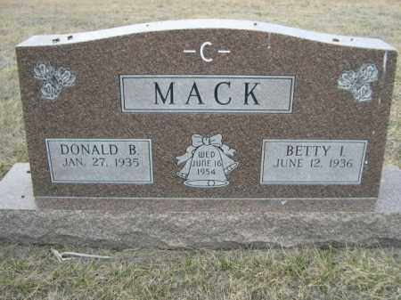 MACK, DONALD B. - Sioux County, Nebraska | DONALD B. MACK - Nebraska Gravestone Photos