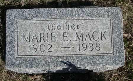 MACK, MARIE E. - Sioux County, Nebraska | MARIE E. MACK - Nebraska Gravestone Photos