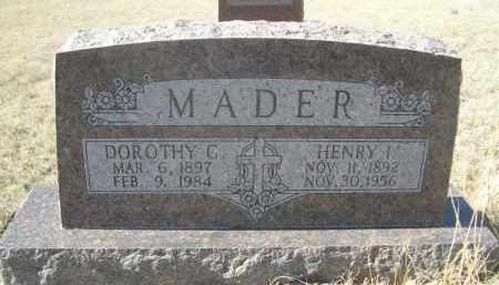 MADER, DOROTHY C. - Sioux County, Nebraska   DOROTHY C. MADER - Nebraska Gravestone Photos