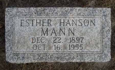 HANSON MANN, ESTHER - Sioux County, Nebraska | ESTHER HANSON MANN - Nebraska Gravestone Photos