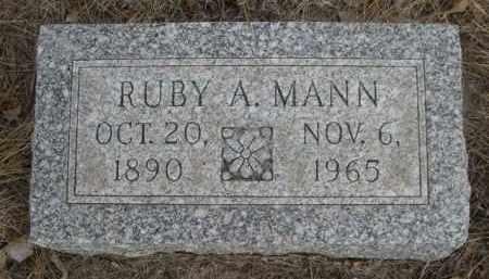 MANN, RUBY A. - Sioux County, Nebraska   RUBY A. MANN - Nebraska Gravestone Photos