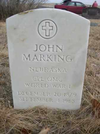 MARKING, JOHN - Sioux County, Nebraska | JOHN MARKING - Nebraska Gravestone Photos