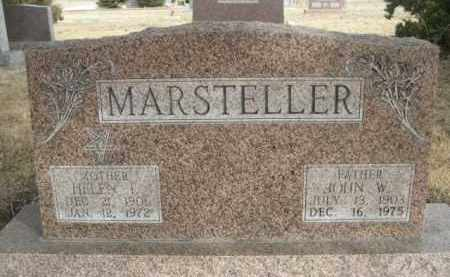 MARSTELLER, JOHN W. - Sioux County, Nebraska | JOHN W. MARSTELLER - Nebraska Gravestone Photos