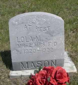 MASON, LOLA M. - Sioux County, Nebraska | LOLA M. MASON - Nebraska Gravestone Photos