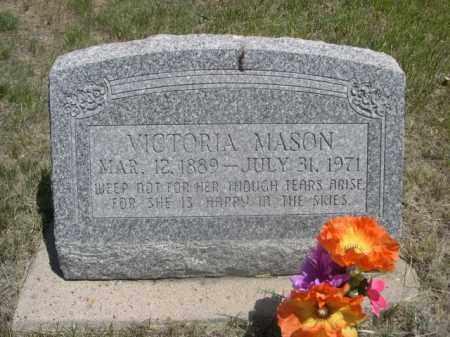 MASON, VICTORIA - Sioux County, Nebraska   VICTORIA MASON - Nebraska Gravestone Photos