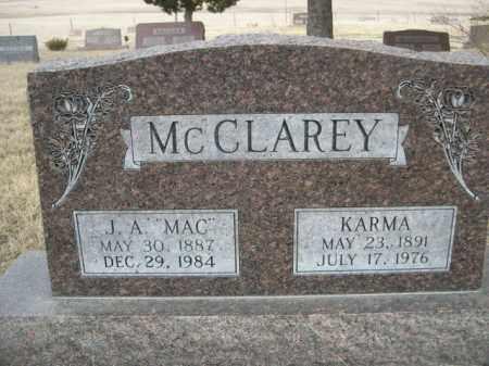 "MCCLAREY, J. A. ""MAC"" - Sioux County, Nebraska | J. A. ""MAC"" MCCLAREY - Nebraska Gravestone Photos"