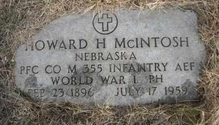 MCINTOSH, HOWARD H. - Sioux County, Nebraska | HOWARD H. MCINTOSH - Nebraska Gravestone Photos