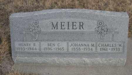 MEIER, JOHANNA M. - Sioux County, Nebraska | JOHANNA M. MEIER - Nebraska Gravestone Photos