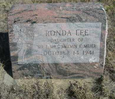 MEIER, RONDA LEE - Sioux County, Nebraska | RONDA LEE MEIER - Nebraska Gravestone Photos