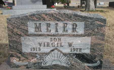MEIER, VIRGIL W. - Sioux County, Nebraska | VIRGIL W. MEIER - Nebraska Gravestone Photos