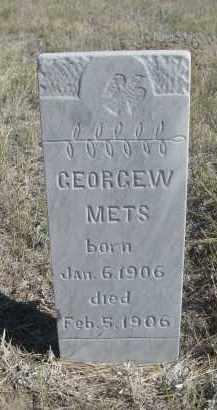 METS, GEORGE W. - Sioux County, Nebraska | GEORGE W. METS - Nebraska Gravestone Photos
