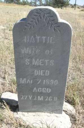 METS, HATTIE - Sioux County, Nebraska | HATTIE METS - Nebraska Gravestone Photos