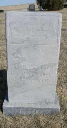 METTLEN, VERA V. - Sioux County, Nebraska | VERA V. METTLEN - Nebraska Gravestone Photos