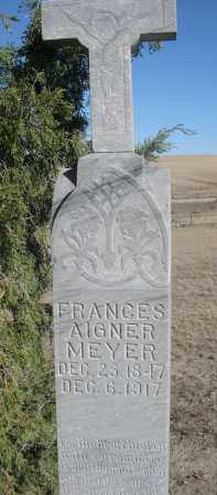 AIGNER MEYER, FRANCES - Sioux County, Nebraska | FRANCES AIGNER MEYER - Nebraska Gravestone Photos